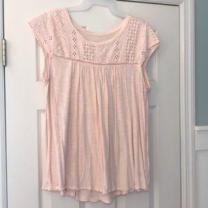 Target brand lace detail tee